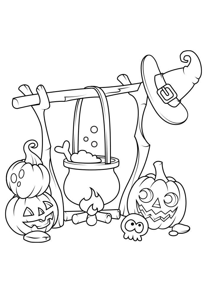 dibujo para colorear de halloween 11