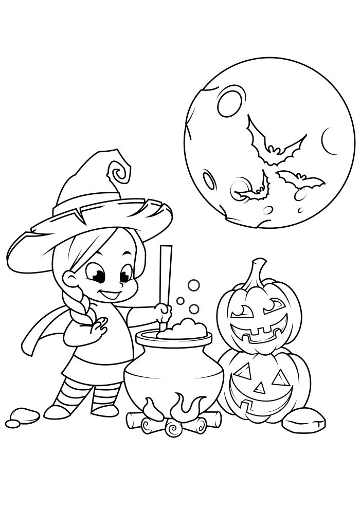 dibujo para colorear de halloween 12