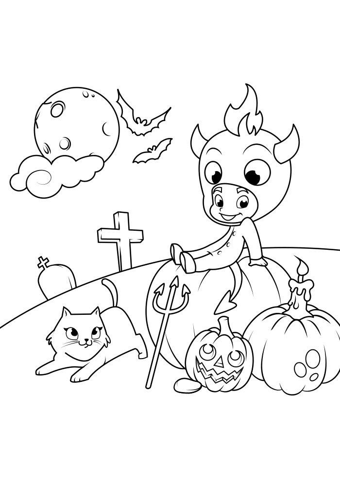 dibujo para colorear de halloween 13