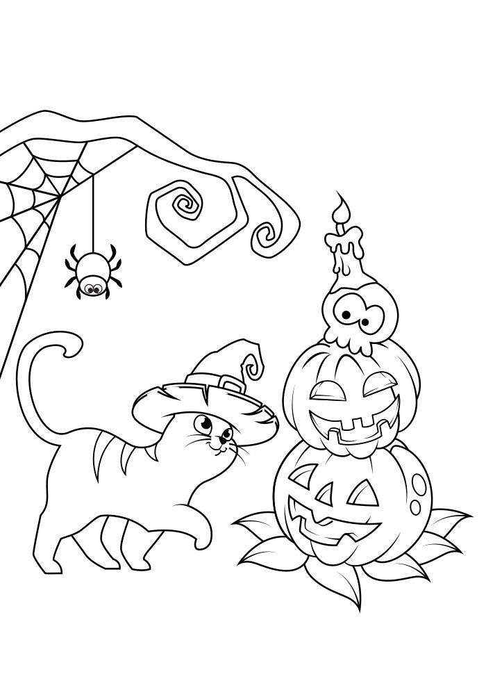 dibujo para colorear de halloween 14
