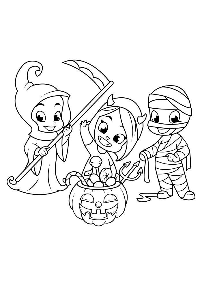 dibujo para colorear de halloween 15