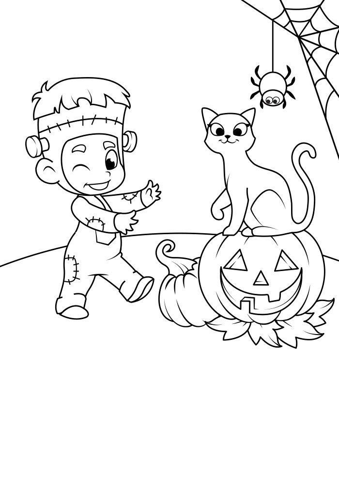 dibujo para colorear de halloween 16