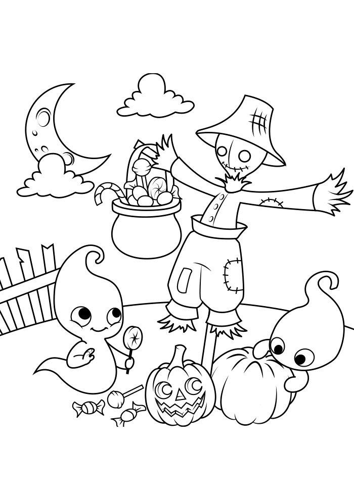 dibujo para colorear de halloween 17
