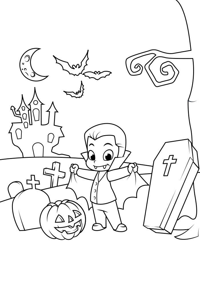 dibujo para colorear de halloween 18