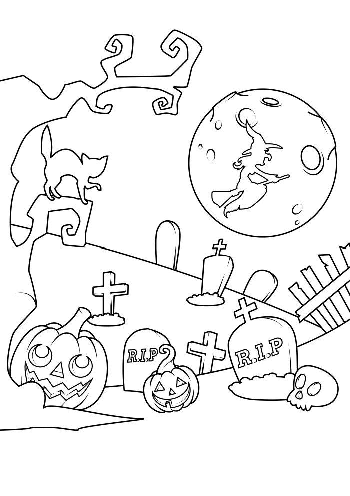 dibujo para colorear de halloween 19