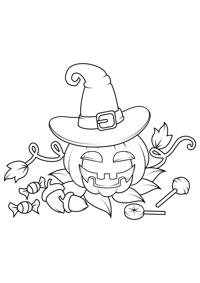 dibujo para colorear de halloween 2