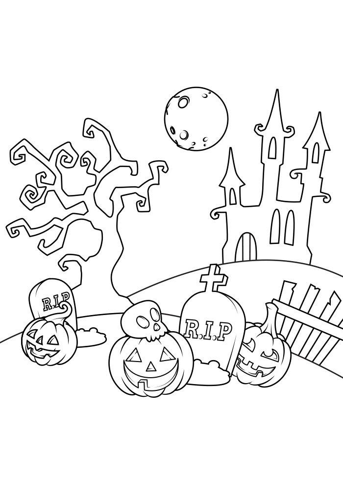 dibujo para colorear de halloween 20
