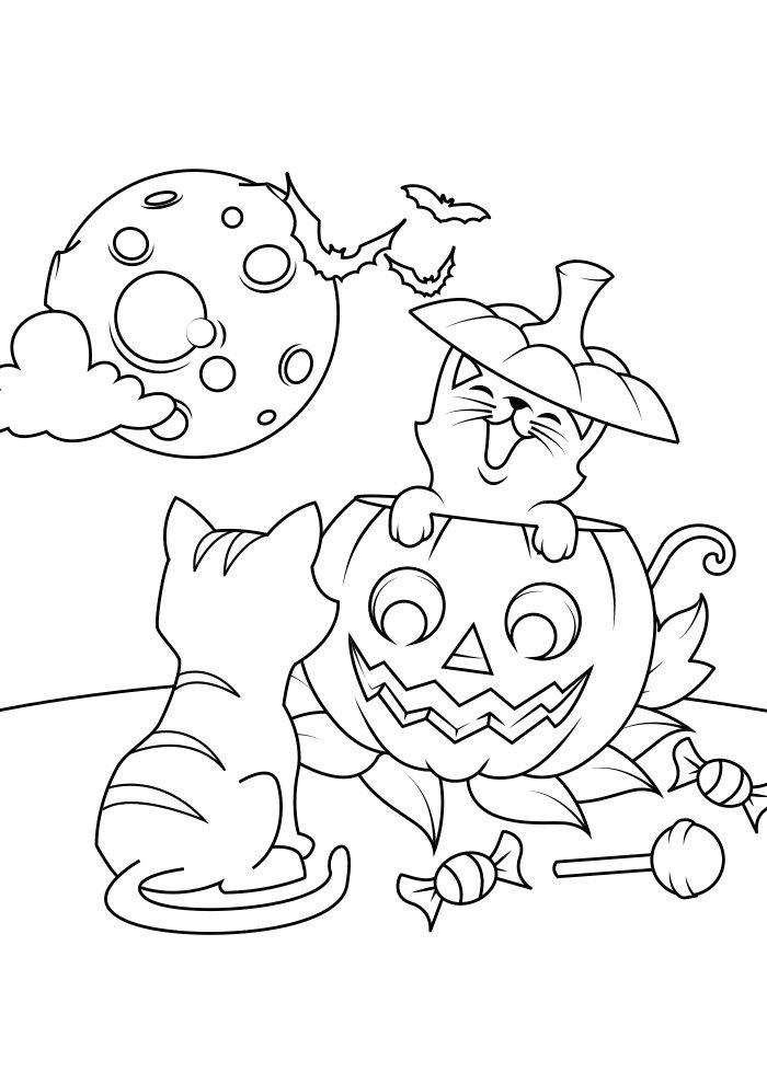 dibujo para colorear de halloween 4