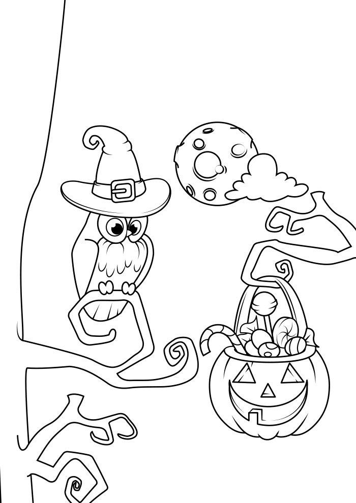 dibujo para colorear de halloween 5