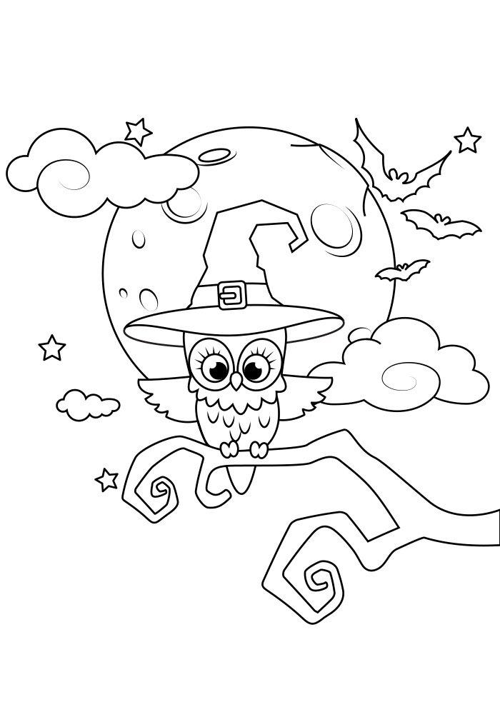 dibujo para colorear de halloween 8