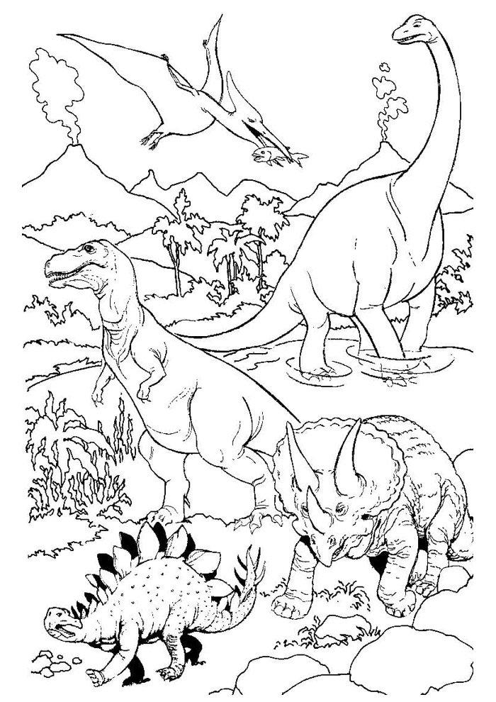 dinosaurio para colorear 54