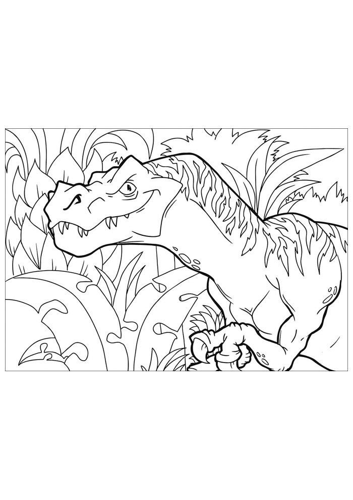 dinosaurio para colorear 89