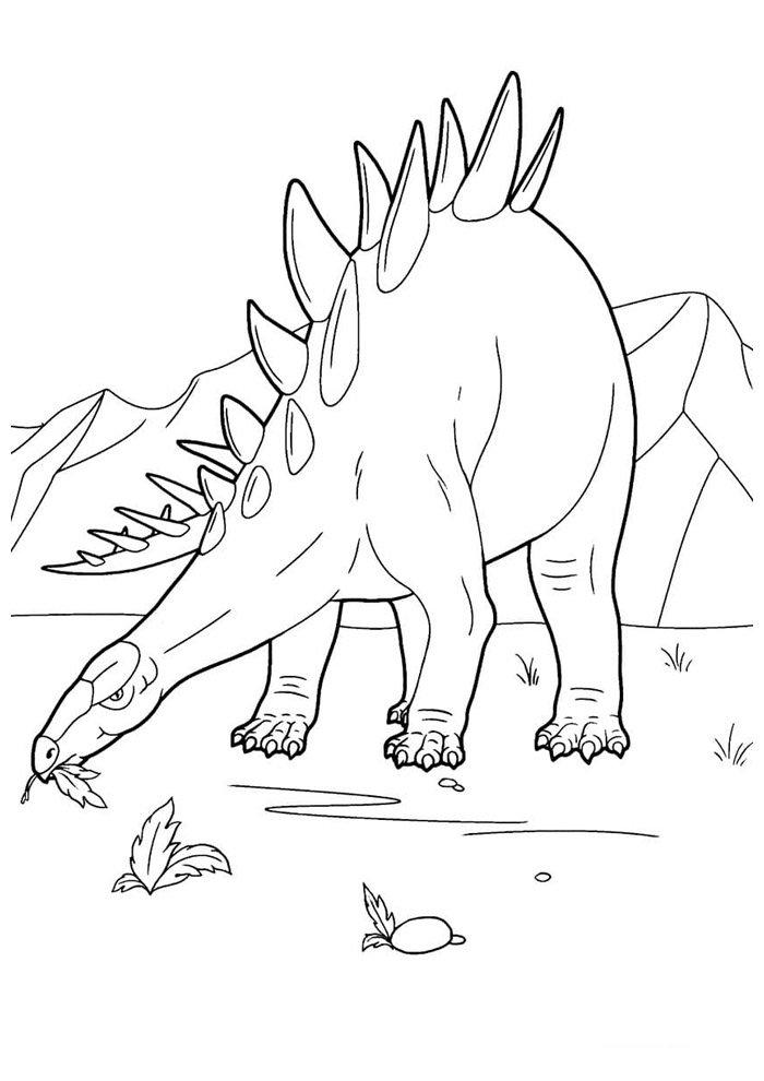 dinosaurio para colorear 95