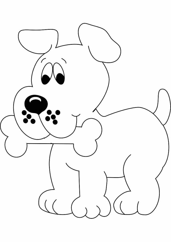 dog coloring page for kids