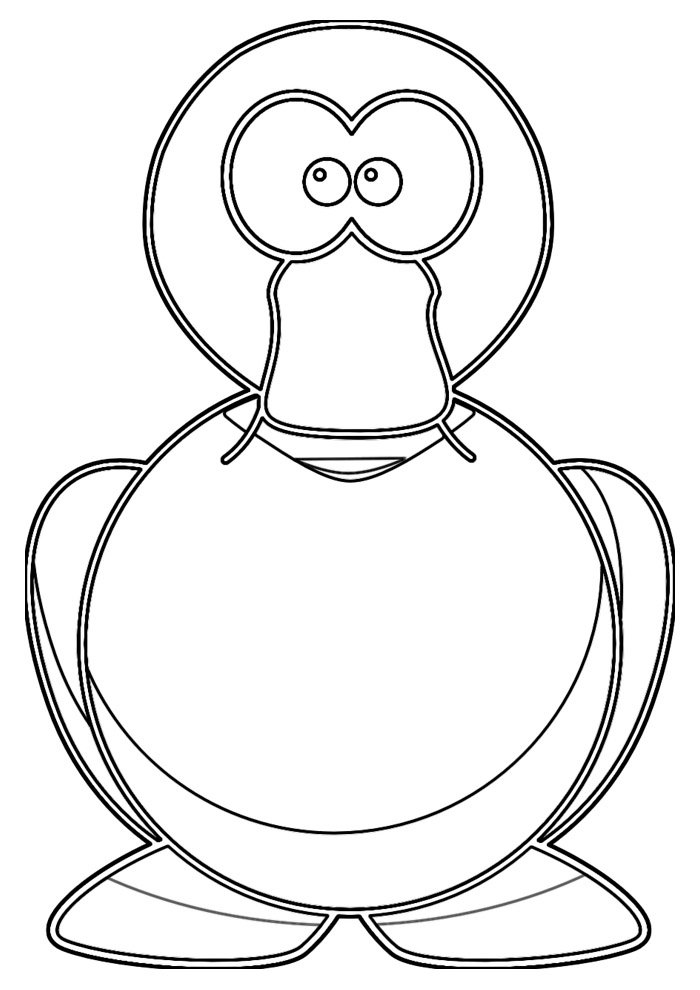 duck coloring page 23