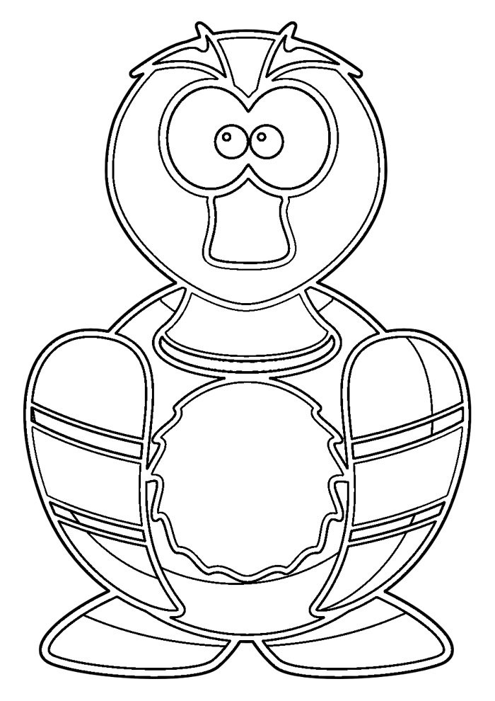 duck coloring page 34