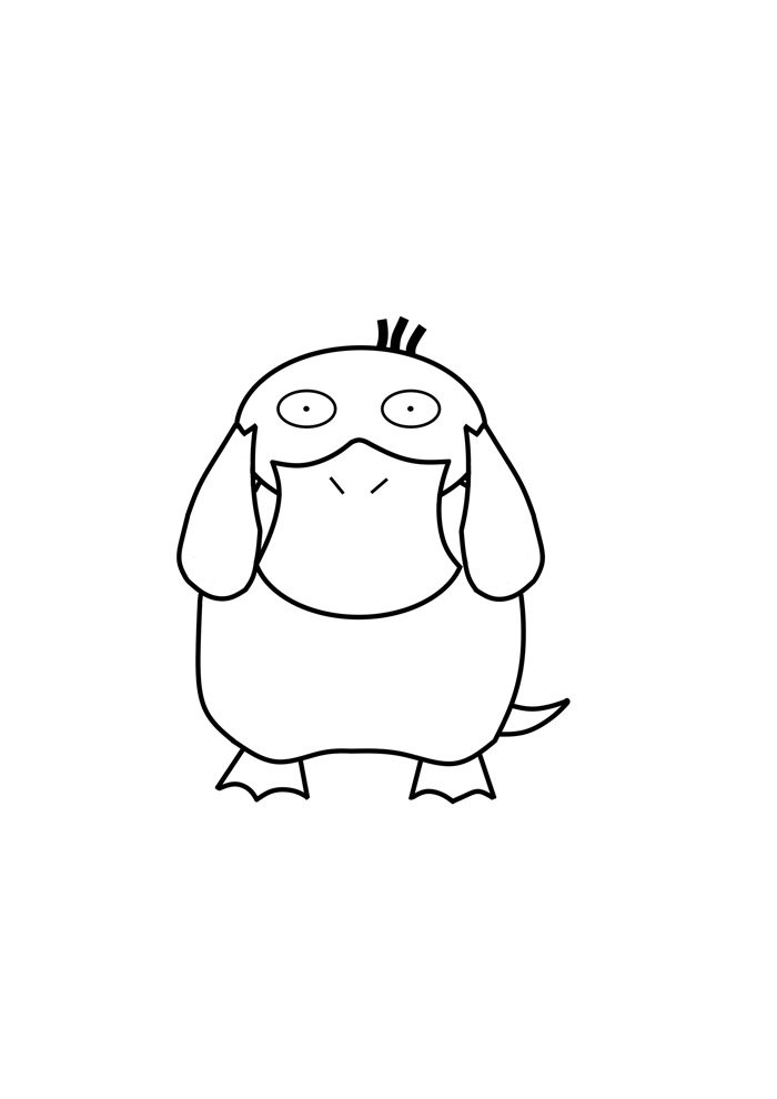 duck coloring page 35