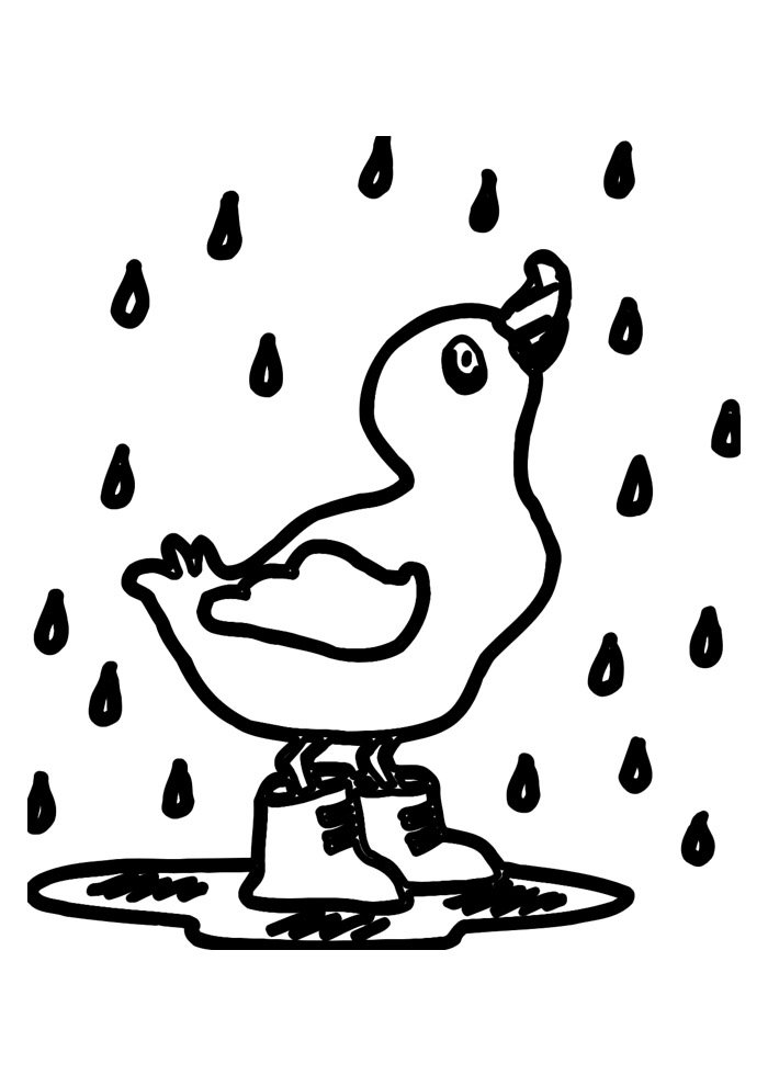 duck coloring page 36