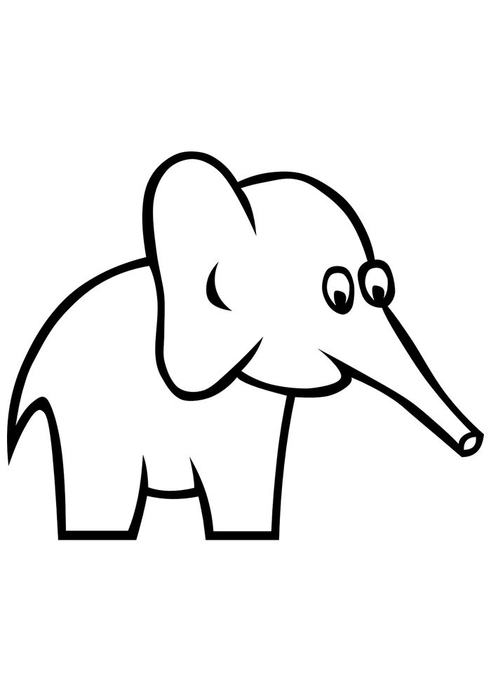 elephant coloring page 10