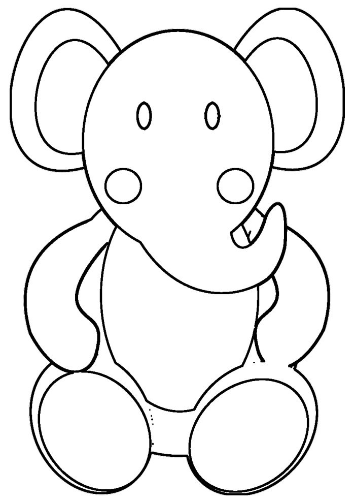 elephant coloring page 13