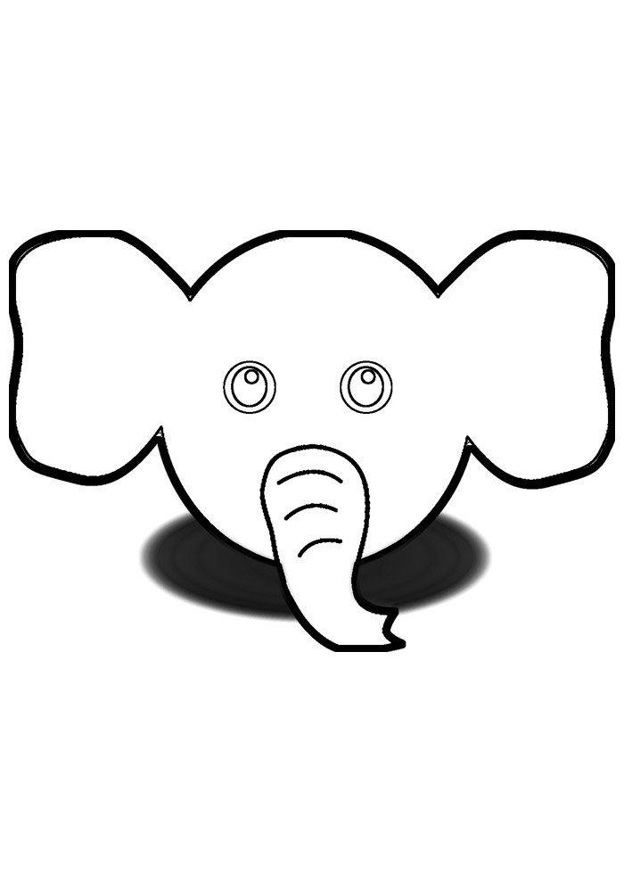 elephant coloring page 15