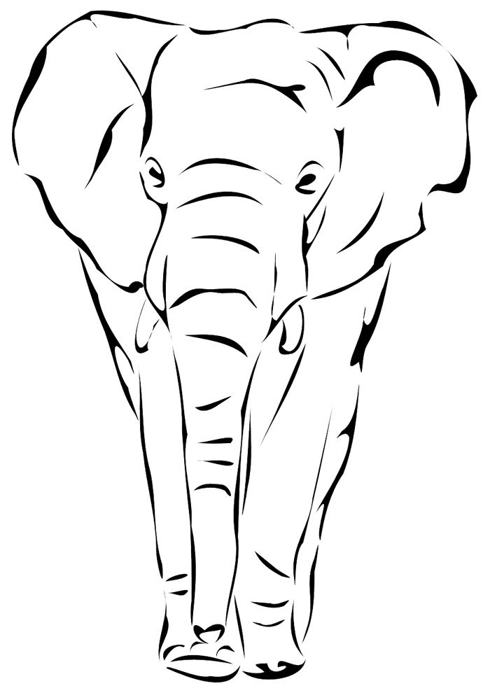 elephant coloring page 16
