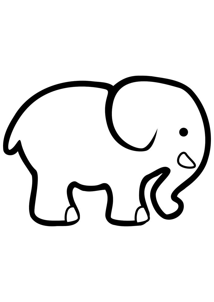 elephant coloring page 17