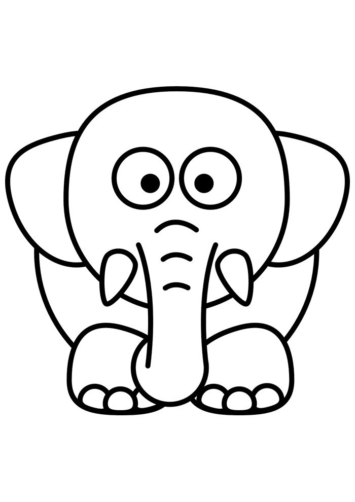 elephant coloring page 18