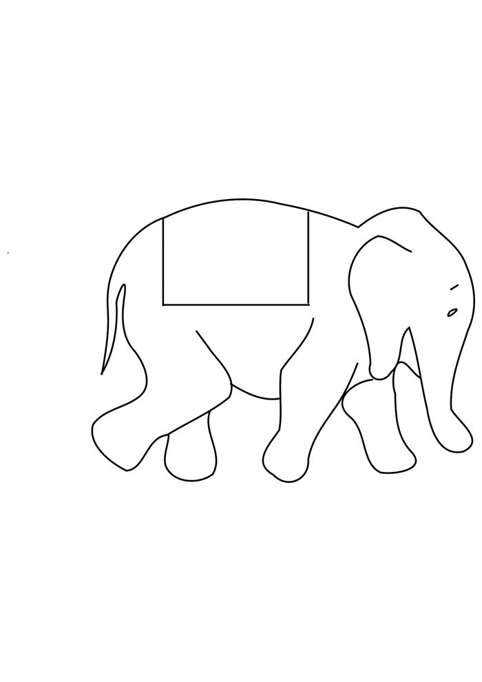 elephant coloring page 19