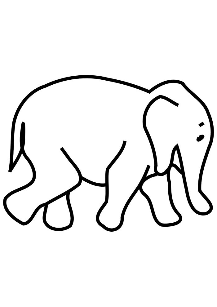 elephant coloring page 20