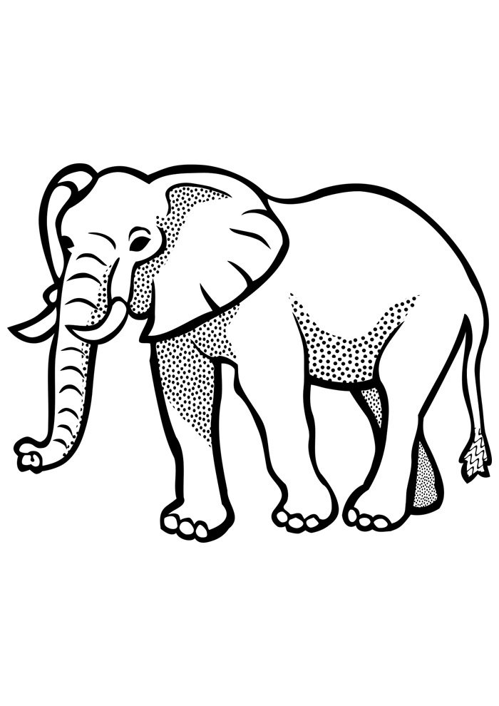 elephant coloring page 22