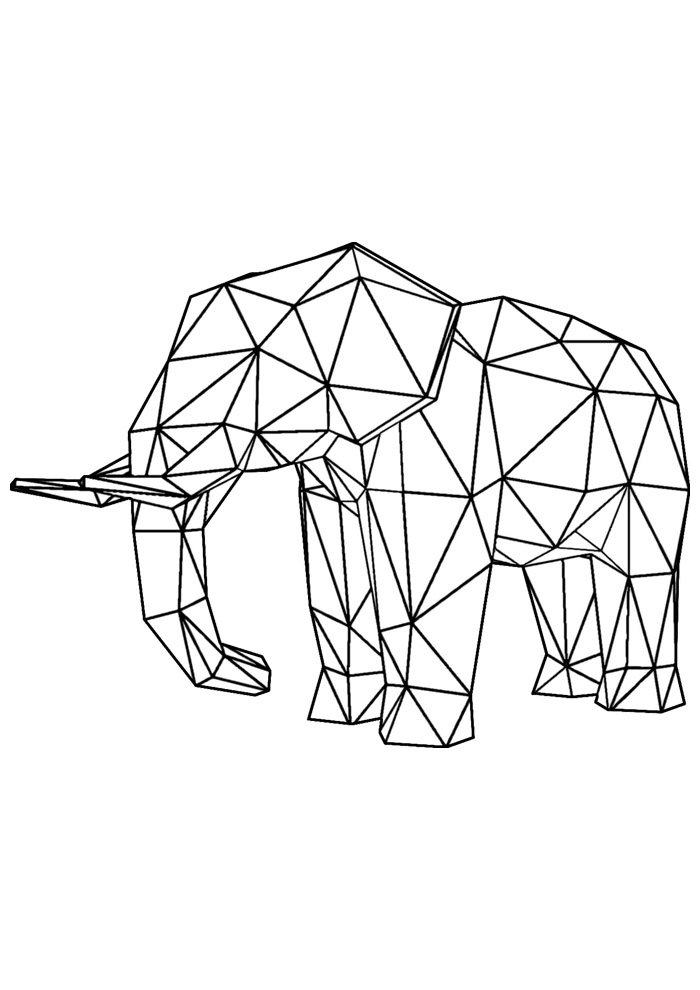 elephant coloring page 26
