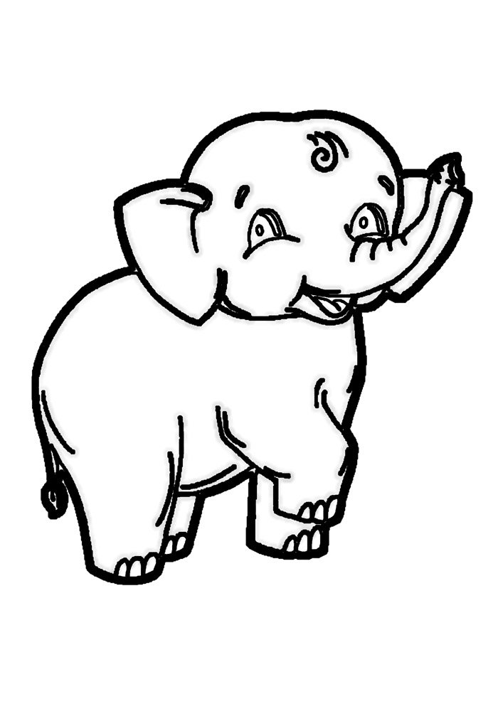 elephant coloring page 28