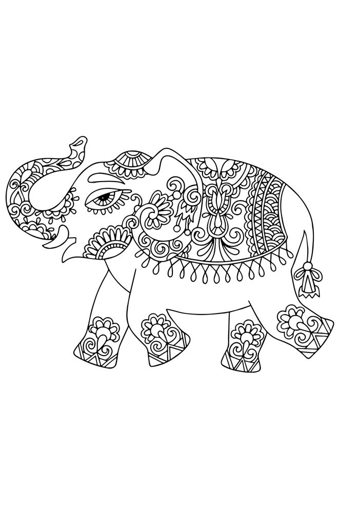 elephant coloring page 29