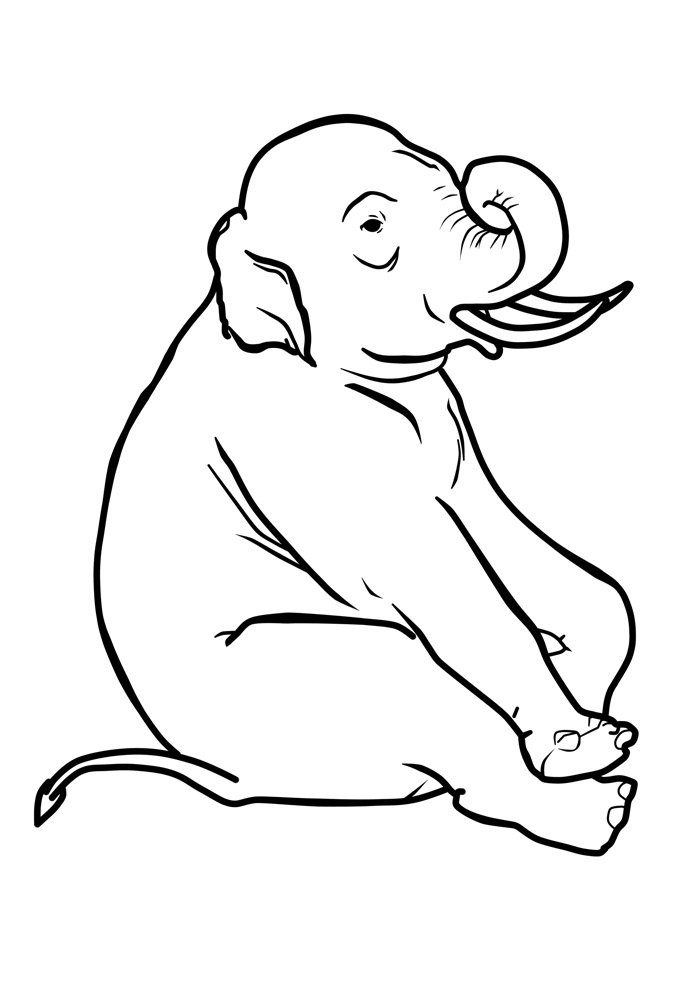 elephant coloring page 30