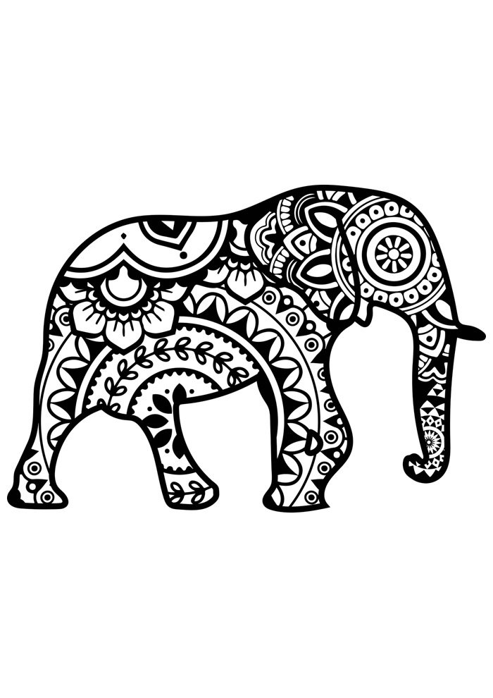 elephant coloring page 32