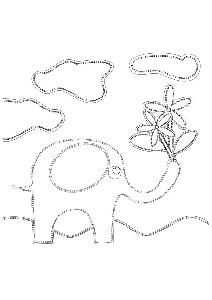 elephant coloring page 33