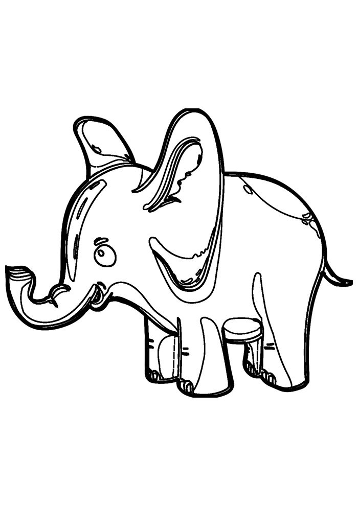 elephant coloring page 9