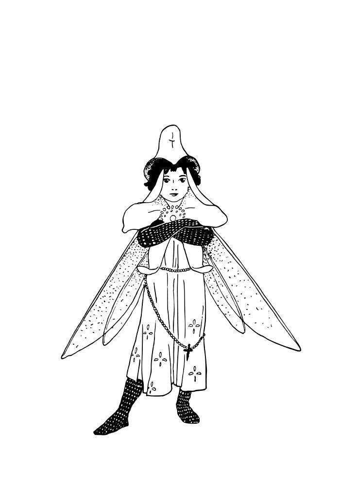 fairy coloring page 2