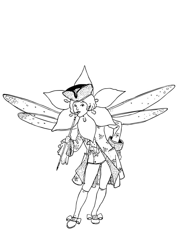 fairy coloring page 3
