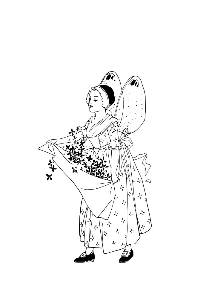 fairy coloring page 4