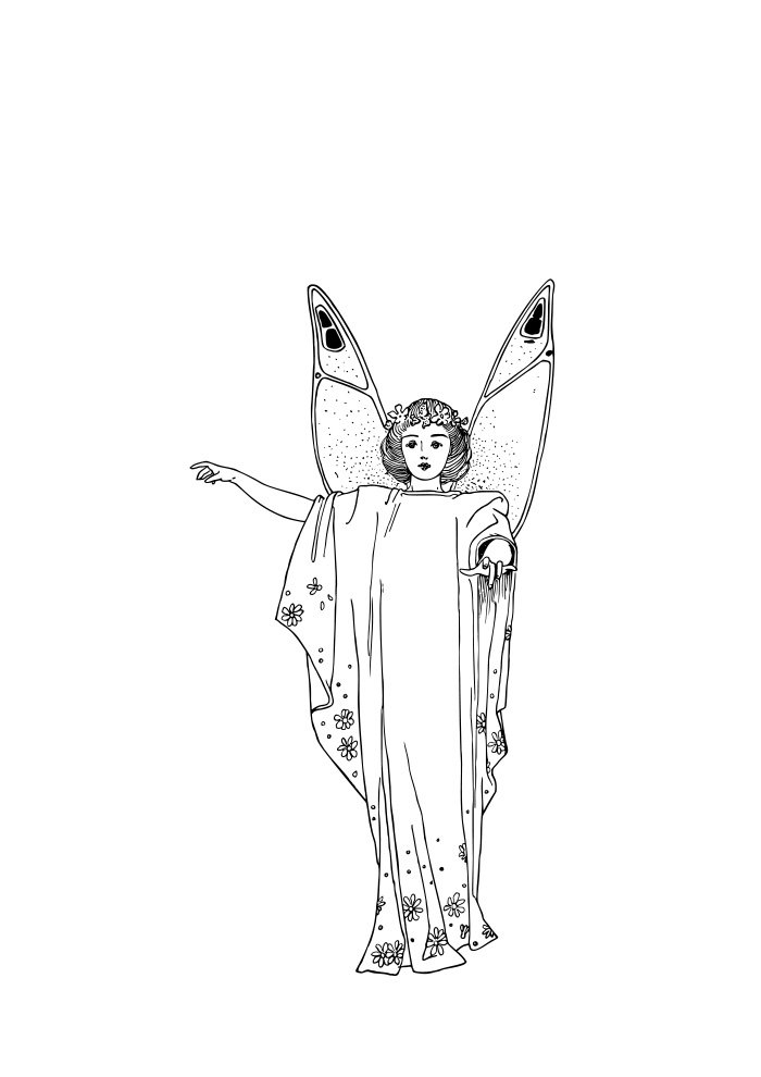 fairy coloring page 5