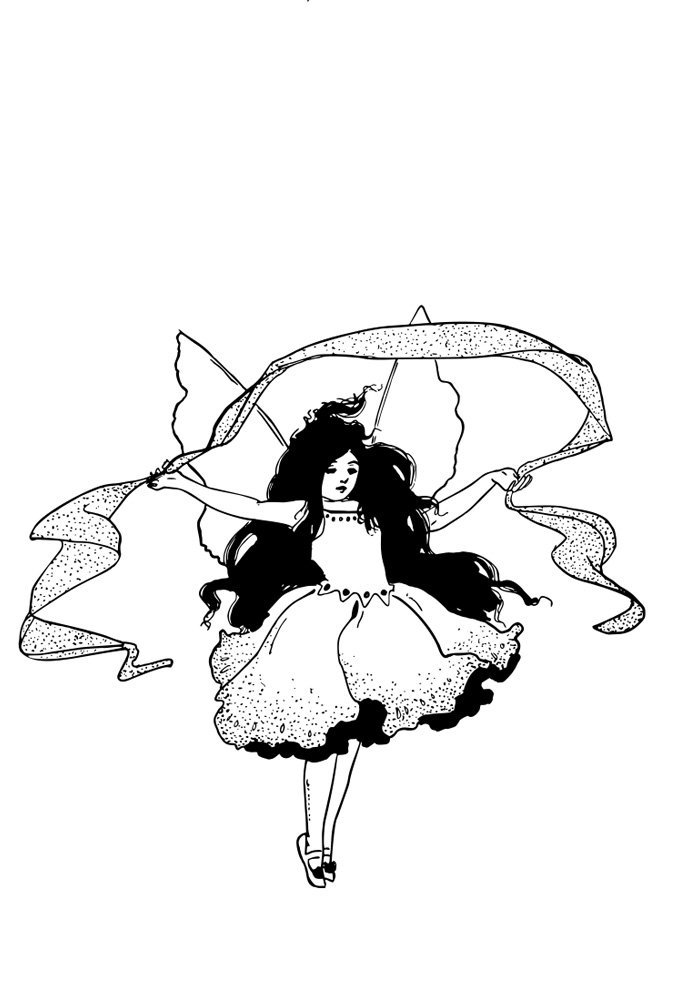 fairy coloring page 6