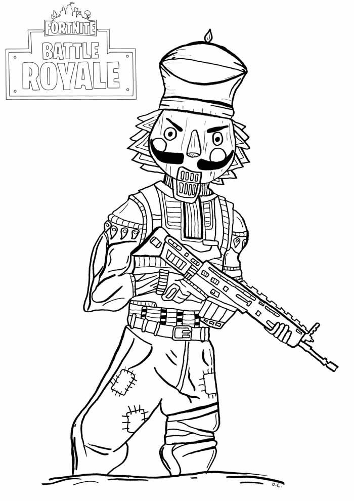 fortnite battle royale coloring page 1