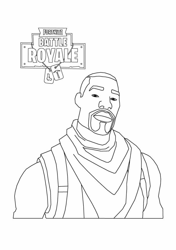 fortnite battle royale coloring page 11