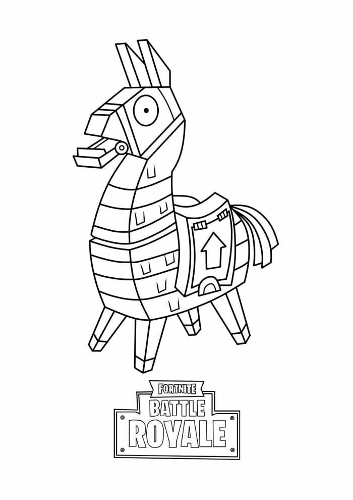 fortnite battle royale coloring page 12