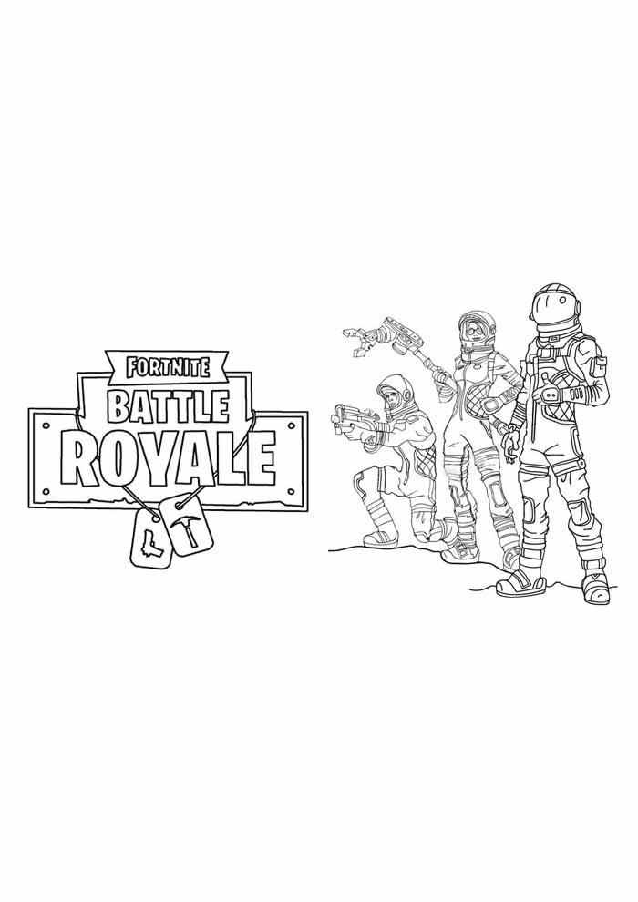 fortnite battle royale coloring page 13