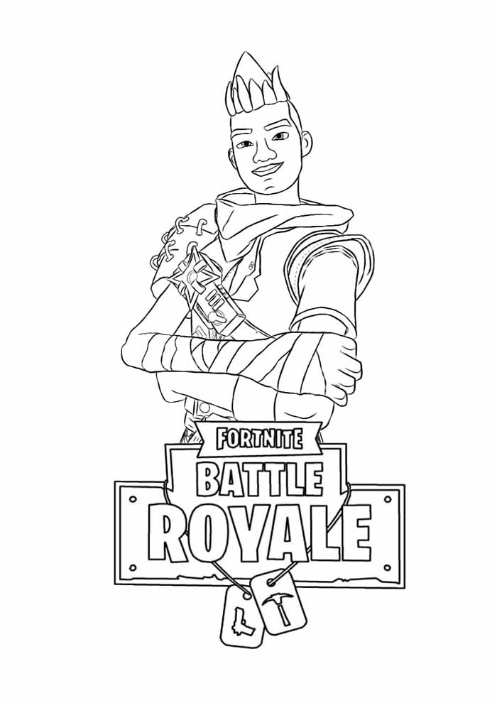 fortnite battle royale coloring page 14