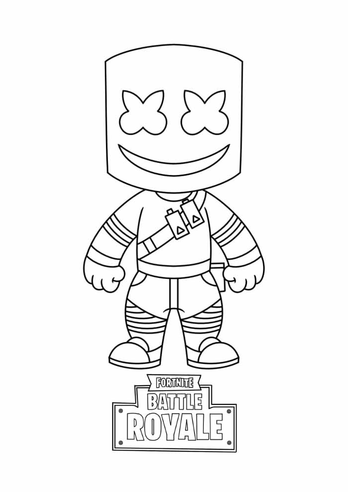 fortnite battle royale coloring page 17