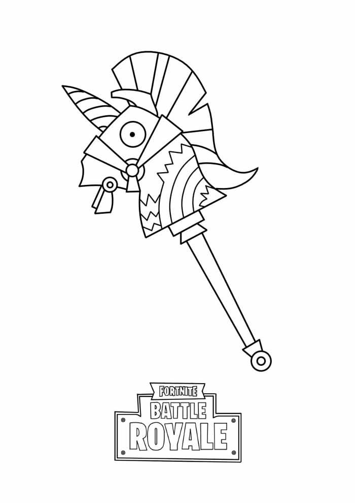fortnite battle royale coloring page 2